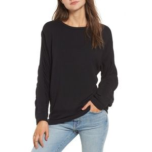 PST by Project Social T Ruched Sleeve Sweatshirt